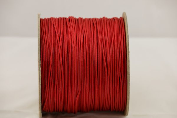 Imperial Red 2mm Accessory Cord 100% Nylon made in the USA