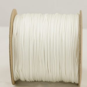 White 2mm Accessory cord 100% Nylon Made in the USA