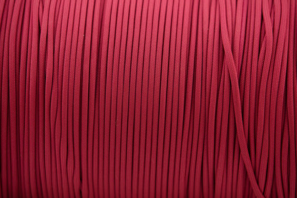Crimson 4mm Paracord for sale 100% Nylon its lightweight & Strong