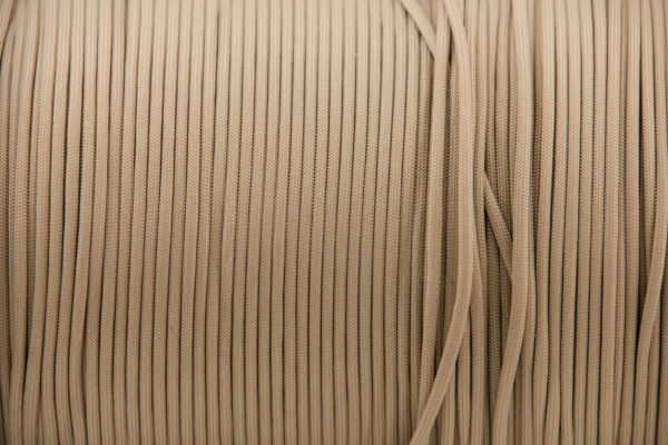 Beige 4mm Paracord for sale 100% Nylon its lightweight & Strong