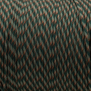 Dark green Camo Paracord for sale 100% Nylon its lightweight & Strong