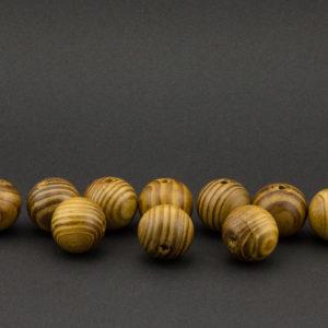 Round wooden bead