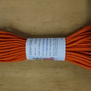 Orange 4mm Cotton Rope 100% cotton and of the highest quality