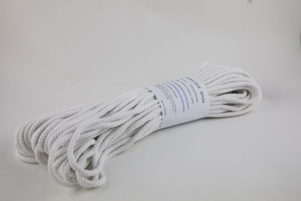 White 4mm Cotton Rope