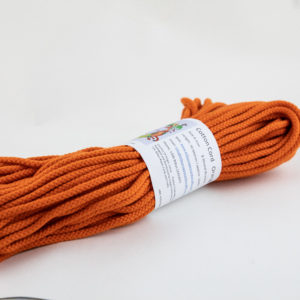 Orange 6mm Cotton Rope 100% cotton and of the highest quality
