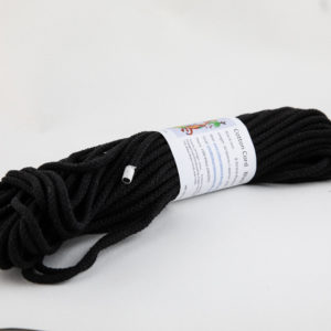 Black 6mm Cotton Rope 100% cotton and of the highest quality