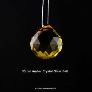 Amber Crystal Glass Ball. 100% K9 high Quallity Glass Crystal