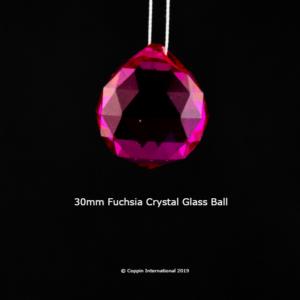 Fuchsia Crystal Glass Ball. 100% K9 high Quallity Glass Crystal
