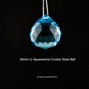 Light Aquamarine Crystal Glass Ball. High Quallity Glass Crystal