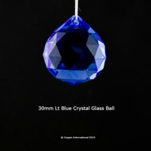 Light Blue Crystal Glass Ball. 100% K9 high Quallity Glass Crystal