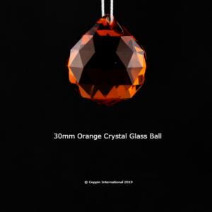 Orange Crystal Glass Ball. 100% K9 high Quallity Glass Crystal