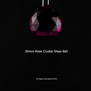 Rose Crystal Glass Ball. 100% K9 high Quallity Glass Crystal