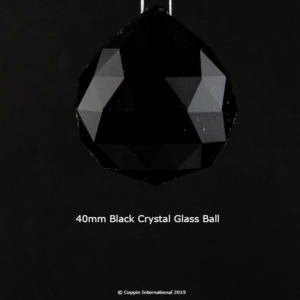 Black Crystal Glass Ball. 100% K9 high Quallity Glass Crystal