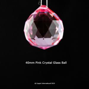 Pink Crystal Glass Ball. 100% K9 high Quallity Glass Crystal