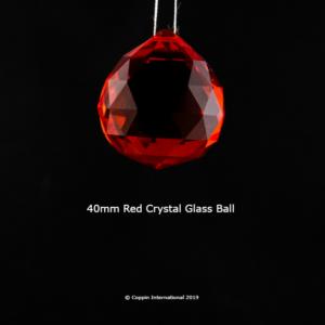 Red Crystal Glass Ball. 100% K9 high Quallity Glass Crystal