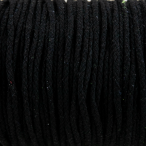 Black Cotton Rope 5mm 100% cotton and of reasonable quality