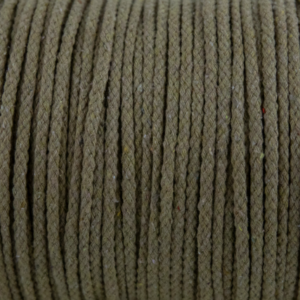 Khaki Cotton Rope 5mm 100% cotton and of reasonable quality