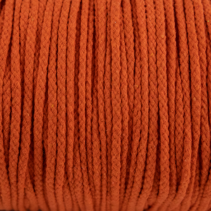 Orange Cotton Rope 5mm 100% cotton and of reasonable quality