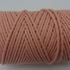 Pale Apricot 2mm Cotton cord 100% cotton and of the highest quality