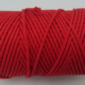 Red 2mm Cotton cord 100% cotton and of the highest quality