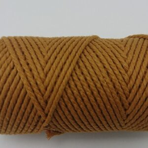 Caramel 2mm Cotton cord 100% cotton and of the highest quality