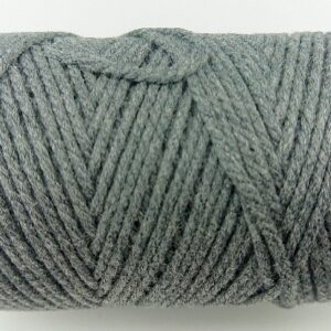 Grey 2mm Cotton cord 100% cotton and of the highest quality