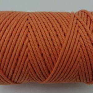 Pumpkin Orange 2mm Cotton cord 100% cotton and of the highest quality