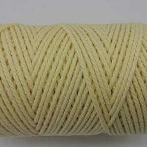 Butter Cream Yellow 2mm Cotton cord 100% cotton and of the highest quality